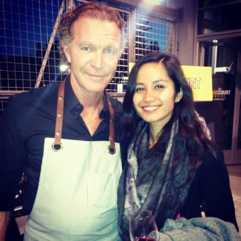 Nilam with Chef Mark Ewan at Food Court Social event to raise awareness and funds for youth mental health.